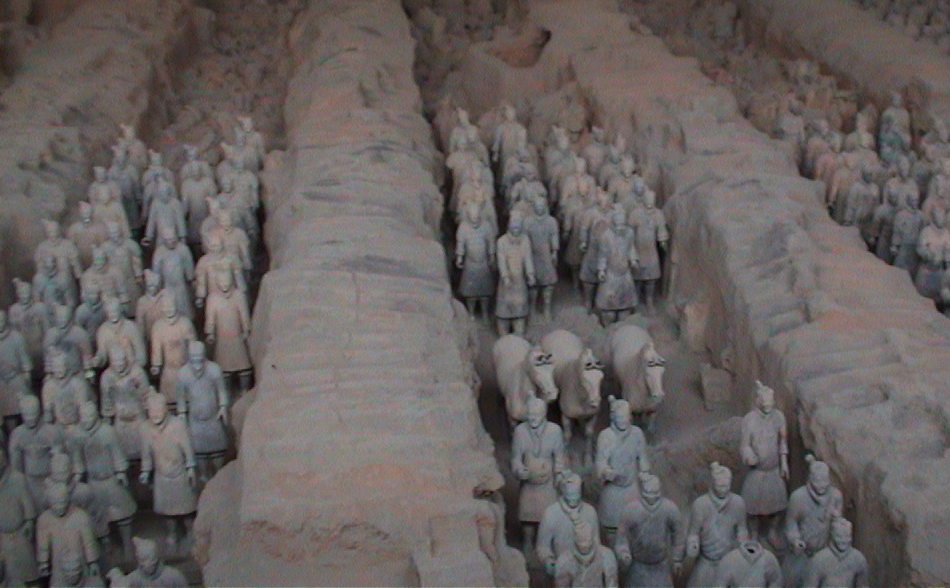 The First Emperor's terracotta army, Xi'an, China