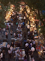 A food market in the Muslim Quarter of Xi'an, China