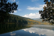Pudacuo Lake and the surrounding forest in the Xianggelila (Shangri-La) area of Yunnan, China