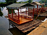 Yangshuo - Yulong River - tea rafts - Hector Garcia - 160 x 120