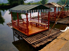 A tea raft on the Yulong River (遇龙河) near Yangshuo (阳朔), China