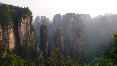 Karst (limestone) peaks and cliffs in the Backyard Garden (Houhuayuan) area of Zhangjiajie (张家界), Hunan Province, China