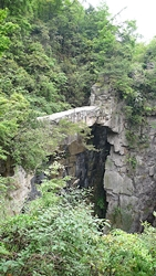 Fairy Bridge, a natural limestone bridge in Zhangjiajie (张家界), Hunan Province, China