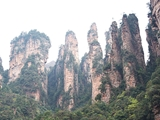Otherworldly karst (limestone) peaks in Zhangjiajie, China