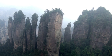 Karst (limestone) peaks and cliffs in Zhangjiajie (张家界), Hunan Province, China