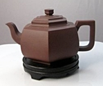 Yixing zisha (紫砂, purple clay) teapot by Cheng Jianming